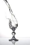 Glas de vin d'isolement Photos libres de droits