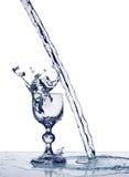 Glas de vin sur la vapeur de l'eau Photo stock