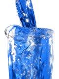 Glas del agua azul Foto de archivo libre de regalías