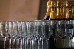 Glas del champange Foto de archivo libre de regalías