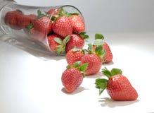 Glas der Erdbeere Lizenzfreie Stockfotografie