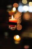 Glas der Kerze Stockfotografie