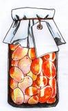 Glas der konservierten Beerenskizze Stockfotos