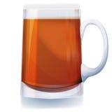 Glas des dunklen Bieres Lizenzfreie Stockfotos