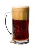 Glas des dunklen Bieres mit Schaumgummi lizenzfreie stockfotografie