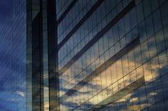 Glas des modernen Turms Stockfotografie