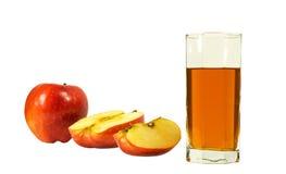 Glas des Safts und des Apfels Lizenzfreie Stockfotografie
