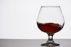 Glas des teuren Kognaks Stockbild