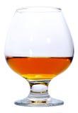 Glas des Weinbrands oder des Kognaks Stockfotografie