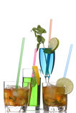 Glas des Whiskys und des Cocktails ein Lizenzfreies Stockbild