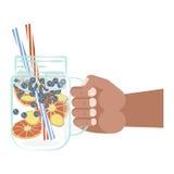 Glas Detoxwasser Lizenzfreies Stockbild