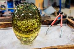 Glas die, Leerdam, Nederland blazen Stock Foto