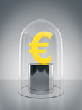 Glas Dome with Euro sign Royalty Free Stock Photo