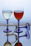 Glas drie wijn Stock Foto