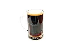 Glas dunkles Bier stockfoto