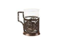 Glas in een onderlegger voor glazen Royalty-vrije Stock Foto