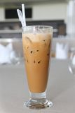 Glas Eiskaffee Stockfoto