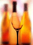 Glas en de Abstracte Achtergrond van Flessen Royalty-vrije Stock Afbeelding