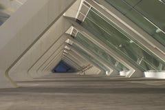 Glas en de concrete bouw Stock Foto