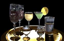 Glas en dranken stock afbeeldingen