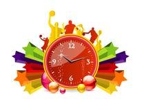 Glas en duidelijke chronometer rode kleur Stock Foto
