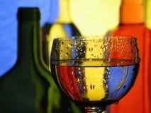Glas en flessen Royalty-vrije Stock Foto's