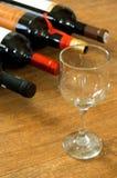 Glas en flessen Royalty-vrije Stock Foto