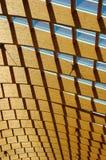 Glas en houten celling stock foto