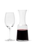 Glas en Karaf met Wijn royalty-vrije stock fotografie