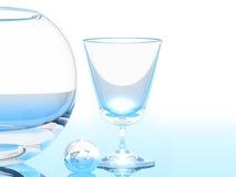 Glas en Kom Royalty-vrije Stock Foto's