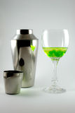 Glas en shaker Royalty-vrije Stock Fotografie