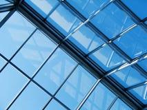 Glas en staal Stock Foto's