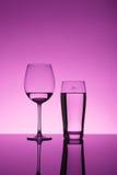 Glas en vloeistof Royalty-vrije Stock Foto's