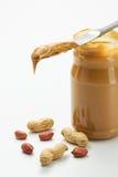 Glas Erdnussbutter Stockbilder