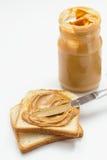 Glas Erdnussbutter Stockbild