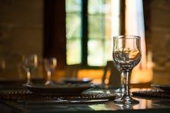 Glas et plat Image stock
