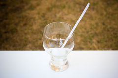 Glas für das Trinken Stockbild