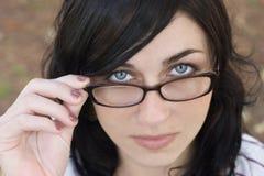 Glas-Frau stockbild