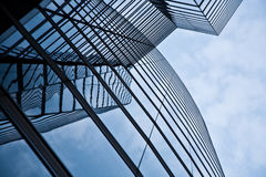 Glas front of the Uniqa tower Stock Image
