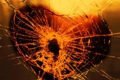 Glas gebrochen Stockfoto