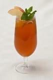 Glas gefrorener Tee Lizenzfreies Stockfoto