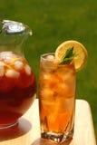 Glas gefrorener Tee lizenzfreie stockfotos