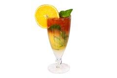 Glas gefrorener Tee Stockbild
