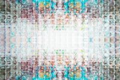 Glas Gekleurde Abstracte Textuur Stock Afbeelding