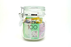 Glas Geld Lizenzfreies Stockfoto