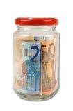 Glas Geld Lizenzfreie Stockbilder