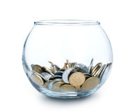 Glas Geld getrennt Lizenzfreie Stockbilder