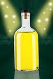 Glas gele fles Stock Afbeeldingen