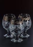 Glas/glas- op een zwarte achtergrond Royalty-vrije Stock Foto
