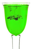 Glas grüne Flüssigkeit stockfoto